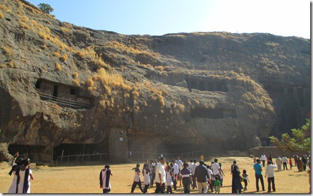 Outside Karla Caves