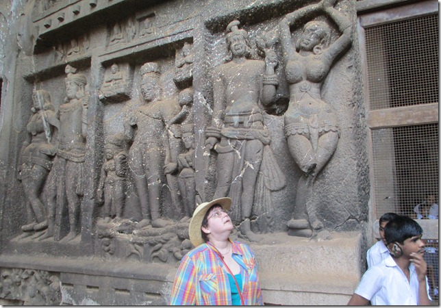 Kim at the Karla Caves