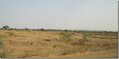 Dry landscape in Maharashtra