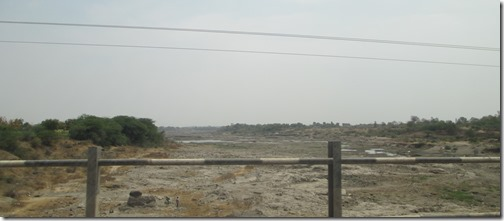 Dry riverbed in Maharashtra