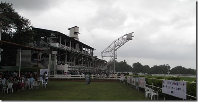 Race course grandstand