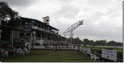 Race course grandstand
