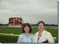 Morgan and Kim at Pune race course