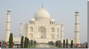Taj Mahal from the front gardens