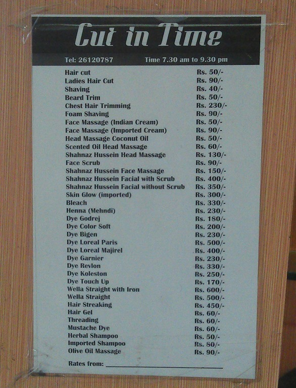 A haircut fernando salazar for F salon jaipur price list