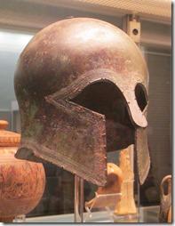 Corinthian bronze helmet