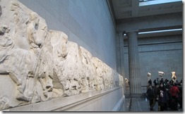 Wall of Elgin marble reliefs