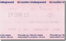 Underground ticket