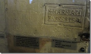 Tower of London prisoner graffiti