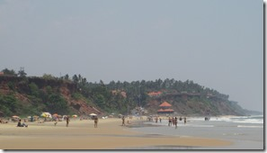 Papanasam Beach facing south