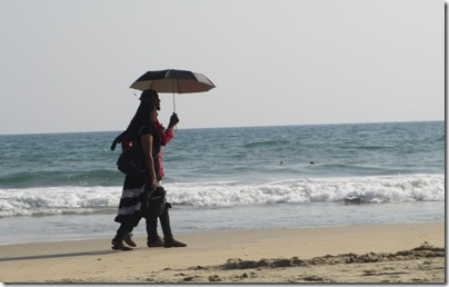 Indian beach-goers