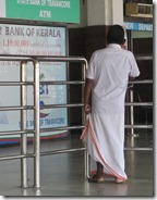 Man wearing lungi at the airport