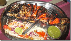 Whole fish from the tandoor