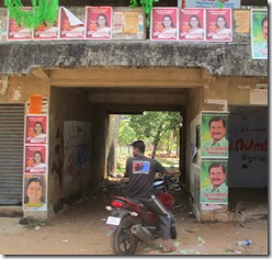 Political signs in Kerala